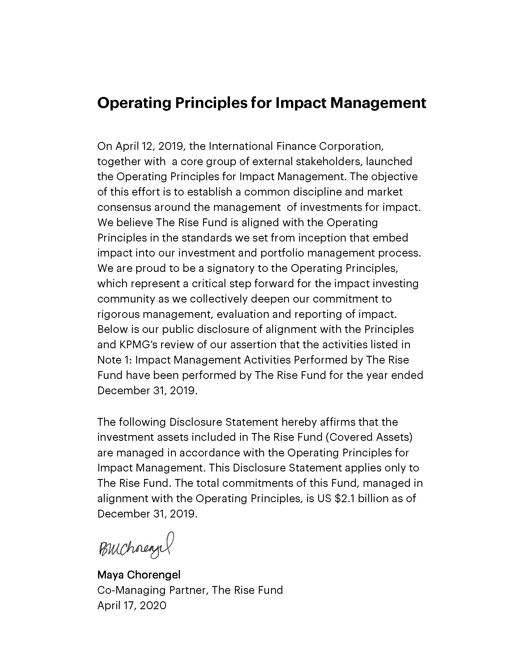 Image of text - full text of Operating Principles for Impact Management image pasted below